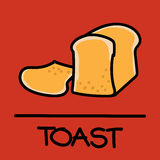 Cute toast hand-drawn style, vector illustration. Cute toast hand-drawn style,drawing,hand drawn vector illustration Royalty Free Stock Photo