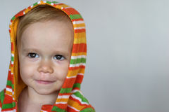 Cute Toddler. Image of cute toddler wearing a hooded jacket Royalty Free Stock Photo