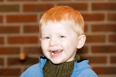 Cute Toddler. Portrait of a toddler smiling and laughing stock photos