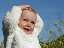 Cute toddler. Beautiful happy smiling toddler fun Stock Photo
