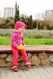 Cute toddler with ball Stock Photography