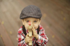 Cute toddler boy with beautiful eyes Royalty Free Stock Image