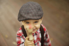 Cute toddler boy, boys will be boys Stock Photo