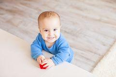 Cute toddler boy stock image