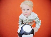 Cute toddler boy having fun on playground Royalty Free Stock Images