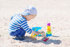 Cute toddler boy playing Stock Photography