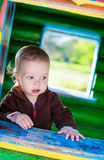 Cute toddler boy playing Royalty Free Stock Image