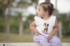 Cute toddler exploring Stock Images