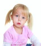 Cute toddler girl stock photo