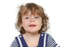 Cute toddler girl Stock Images