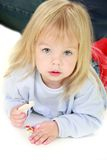 Cute toddler girl over white Royalty Free Stock Photo