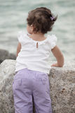 Cute toddler girl standing Royalty Free Stock Image