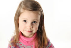 Cute toddler girl wearing a scarf Stock Images