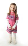 Cute toddler girl wearing a scarf and dress Stock Photo