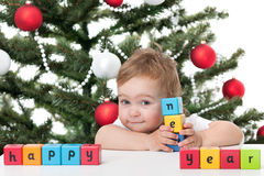 Cute toddler holding Stock Images