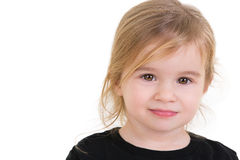 Cute Toddler Looking in to your Eyes Fearless Royalty Free Stock Photo