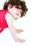 Cute toddler over white Royalty Free Stock Photography