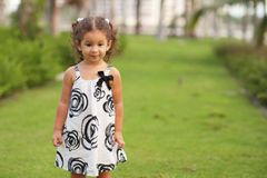 Cute toddler in the park Royalty Free Stock Photography