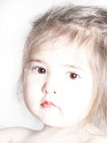 Cute Toddler in Sepia-2 Stock Photos