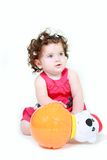 Cute toddler with toy Stock Photo