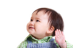 Cute toddler waving Royalty Free Stock Image