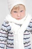 Cute toddler in winter clothes Royalty Free Stock Photos