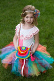 Cute todler little girl in tutu at park Stock Photo