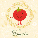 Cute tomato character illustration Royalty Free Stock Photos