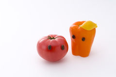 Cute tomato and paprika Royalty Free Stock Image
