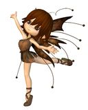 Cute Toon Autumn Fairy Stock Photography