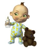 Cute toon baby Stock Photos