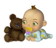 Cute toon baby 2 Royalty Free Stock Images