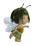 Cute toon baby 3. 3D render of a cute toon fairy girl stock illustration