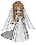 Cute Toon Bride Royalty Free Stock Photo
