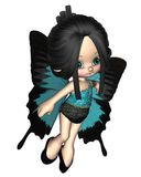 Cute Toon Butterfly Fairy Stock Photo
