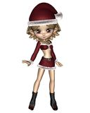 Cute Toon Christmas Elf Stock Photos