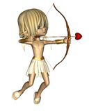 Cute Toon Cupid. Digital render of a cute toon Cupid with bow and arrow for Valentine's Day Stock Photography