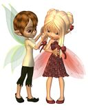 Cute Toon Fairy Friends. Cute toon fairy boy and girl, 3d digitally rendered illustration vector illustration
