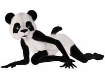 Cute Toon Figure - Panda Bear Royalty Free Stock Photo