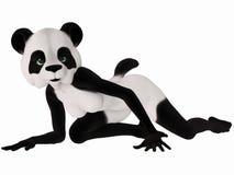 Cute Toon Figure - Panda Bear Royalty Free Stock Photo