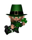 Cute Toon Irish Leprechaun - 1 Royalty Free Stock Photos