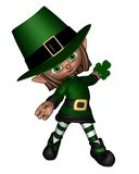 Cute Toon Irish Leprechaun - 2 Royalty Free Stock Photos