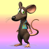 Cute toon mouse Stock Image