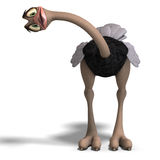 Cute toon ostrich gives so much fun Stock Photos