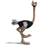 Cute Toon Ostrich Gives So Much Fun Stock Photography