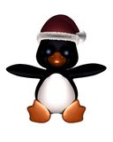 Cute Toon Penguin with Christmas Hat Royalty Free Stock Image
