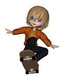 Cute Toon Skateboard Boy - 1 Stock Photography