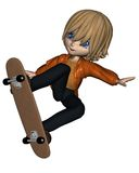 Cute Toon Skateboard Boy - 2 Royalty Free Stock Photos
