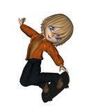 Cute Toon Skateboard Boy - 3 Royalty Free Stock Images