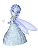 Cute Toon Snowflake Fairy - 1 Stock Photography